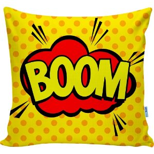 Almofada Onomatopeia Comic Boom 01 40x40cm