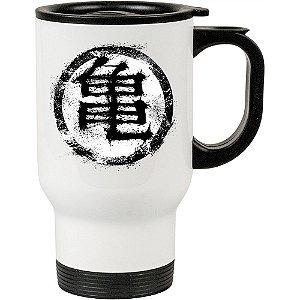 Caneca Térmica Branca Academia Simbolo Dragon Saiyan