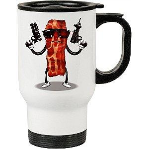 Caneca Térmica Branca Bacon Exterminador