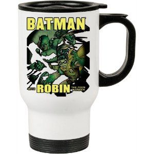 Caneca Térmica Branca Batman and Robin