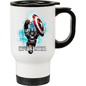 Caneca Térmica Branca Capitão America 01