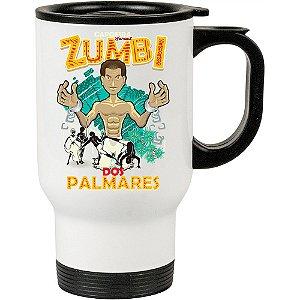 Caneca Térmica Branca Capoeira Zumbi Dos Palmares