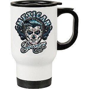 Caneca Térmica Branca Caveira Mexicana Greaser