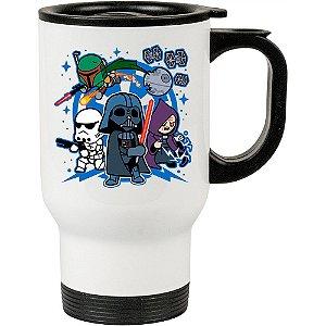 Caneca Térmica Branca Darth Vader and Friends