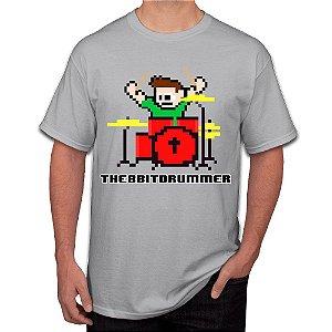 Camiseta Masculina 8 Bits Bateria