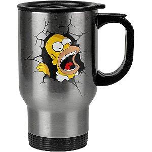 Caneca Térmica Homer Simpson Quebrando Tudo