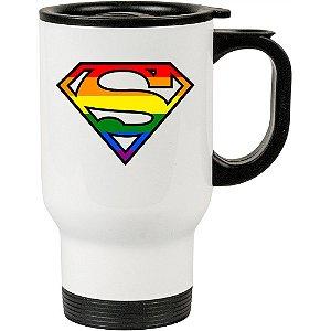 Caneca Térmica Branca Superman LGBT