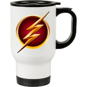Caneca Térmica Branca The Flash Logo Fashion 01