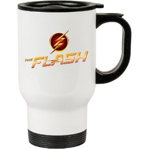 Caneca Térmica Branca The Flash Logo Fashion 02