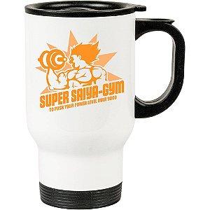 Caneca Térmica Branca Dragon Ball Super Saiyan Academia
