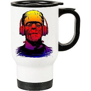 Caneca Térmica Branca Frankenstein Music