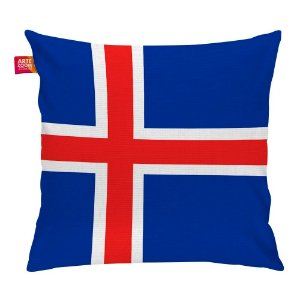 Almofada Bandeira da Islândia 35x35cm