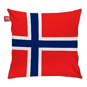 Almofada Bandeira da Noruega 35x35cm