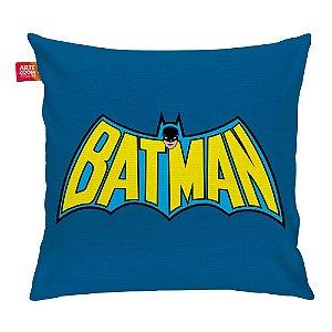 Almofada Batman Logo Vintage Azul e Amarelo 35x35cm