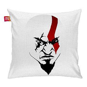 Almofada A Face de Kratos Branca 35x35cm