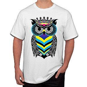 Camiseta Masculina A Arte da Coruja