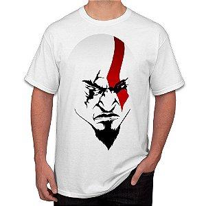 Camiseta Masculina A Face de Kratos