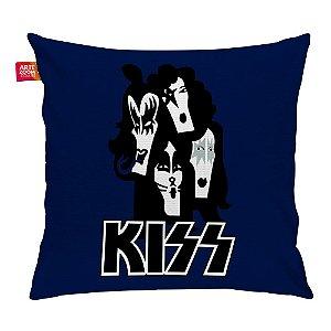 Almofada Banda Kiss 01 Azul 35x35cm