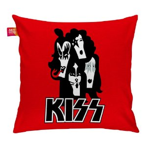 Almofada Banda Kiss 01 Vermelha 35x35cm