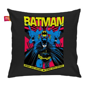 Almofada Batman Resgate Cinza Escuro 35x35cm