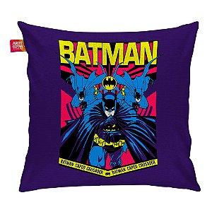 Almofada Batman Resgate Roxa 35x35cm
