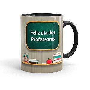 Caneca Dia dos Professores Quem Compartilha Preta