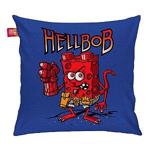 Almofada Bob Esponja Hell Boy Azul 35x35cm