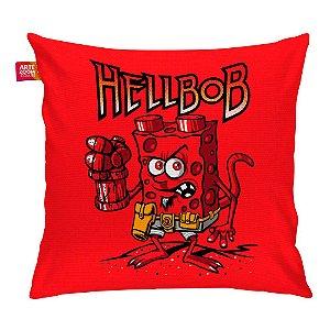 Almofada Bob Esponja Hell Boy Vermelha 35x35cm