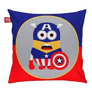 Almofada Minion Hero Capitão América 35x35cm