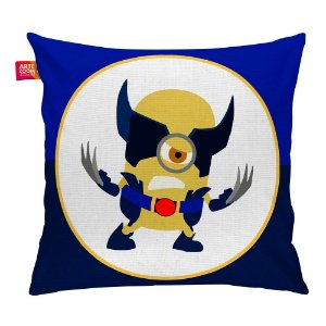 Almofada Minion Hero Wolverine 35x35cm