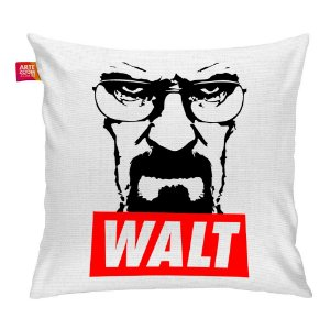 Almofada Breaking Bad Walt Branca 35x35cm