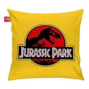 Almofada Jurassic Park Black Red Amarela 35x35cm