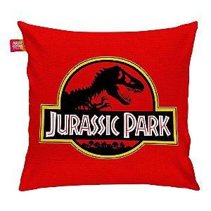 Almofada Jurassic Park Black Red Vermelha 35x35cm