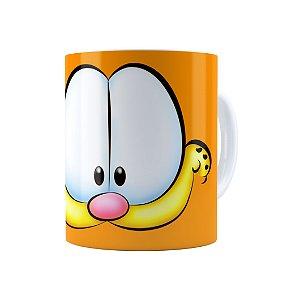 Caneca Porcelana Garfield 01 Branca
