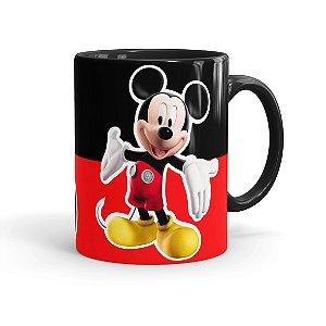 Caneca Porcelana Mickey 01 Preta