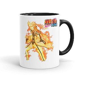 Caneca Porcelana Naruto Shippuden Naruto Modo Bijuu 02 Preta