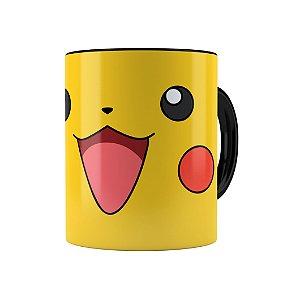 Caneca Porcelana Pokémon Pikachu 01 Preta