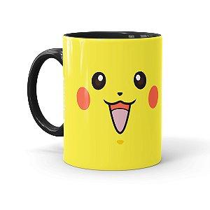 Caneca Porcelana Pokémon Pikachu 02 Preta