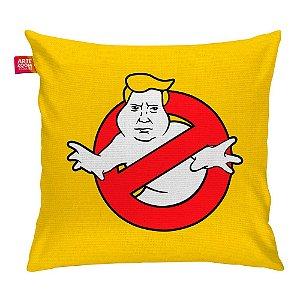 Almofada Caça Trump Fantasma Amarela 35x35cm
