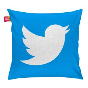Almofada Redes Sociais Twitter 01 35x35cm