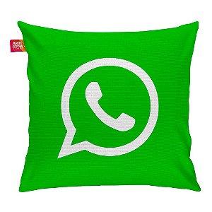 Almofada Redes Sociais WhatsApp 01 35x35cm