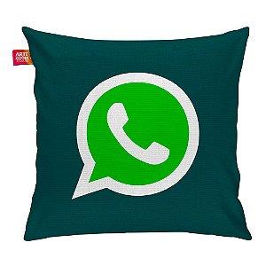 Almofada Redes Sociais WhatsApp 02 35x35cm