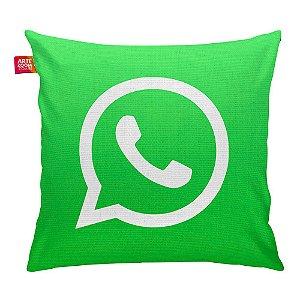 Almofada Redes Sociais WhatsApp 03 35x35cm