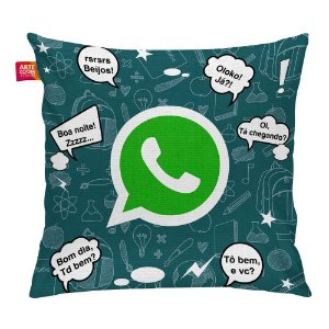 Almofada Redes Sociais WhatsApp 04 35x35cm