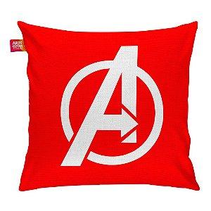 Almofada Os Vingadores Logo 01 Vermelha 35x35cm
