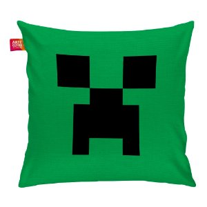Almofada Minecraft Creeper Face 35x35cm