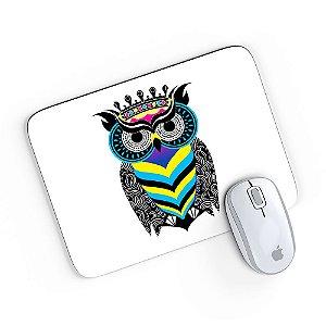 Mouse Pad A Arte da Coruja Branco 24x20