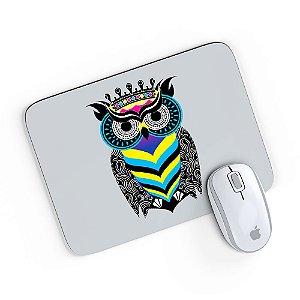 Mouse Pad A Arte da Coruja Cinza 24x20