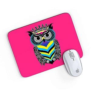 Mouse Pad A Arte da Coruja Pink 24x20