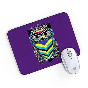 Mouse Pad A Arte da Coruja Roxo 24x20